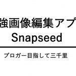 スマホの画像編集アプリ「Snapseed」が超使えておすすめ!これさえあれば他は要らないレベル。